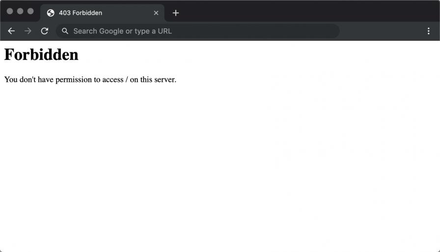 403 Forbidden Error in Centos WebPanel (CWP)